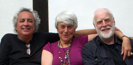 Image of Philip Harland, David Grove and Jennifer relaxing in France 2007